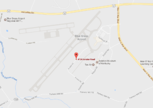 Seaplane Operator in Kentucky, Bluegrass Airport, Lexington, Kentucky map
