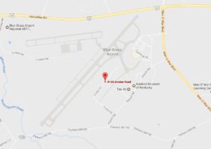 Seaplane Operator in Kentucky, Bluegrass Airport, Lexington, Kentucky map