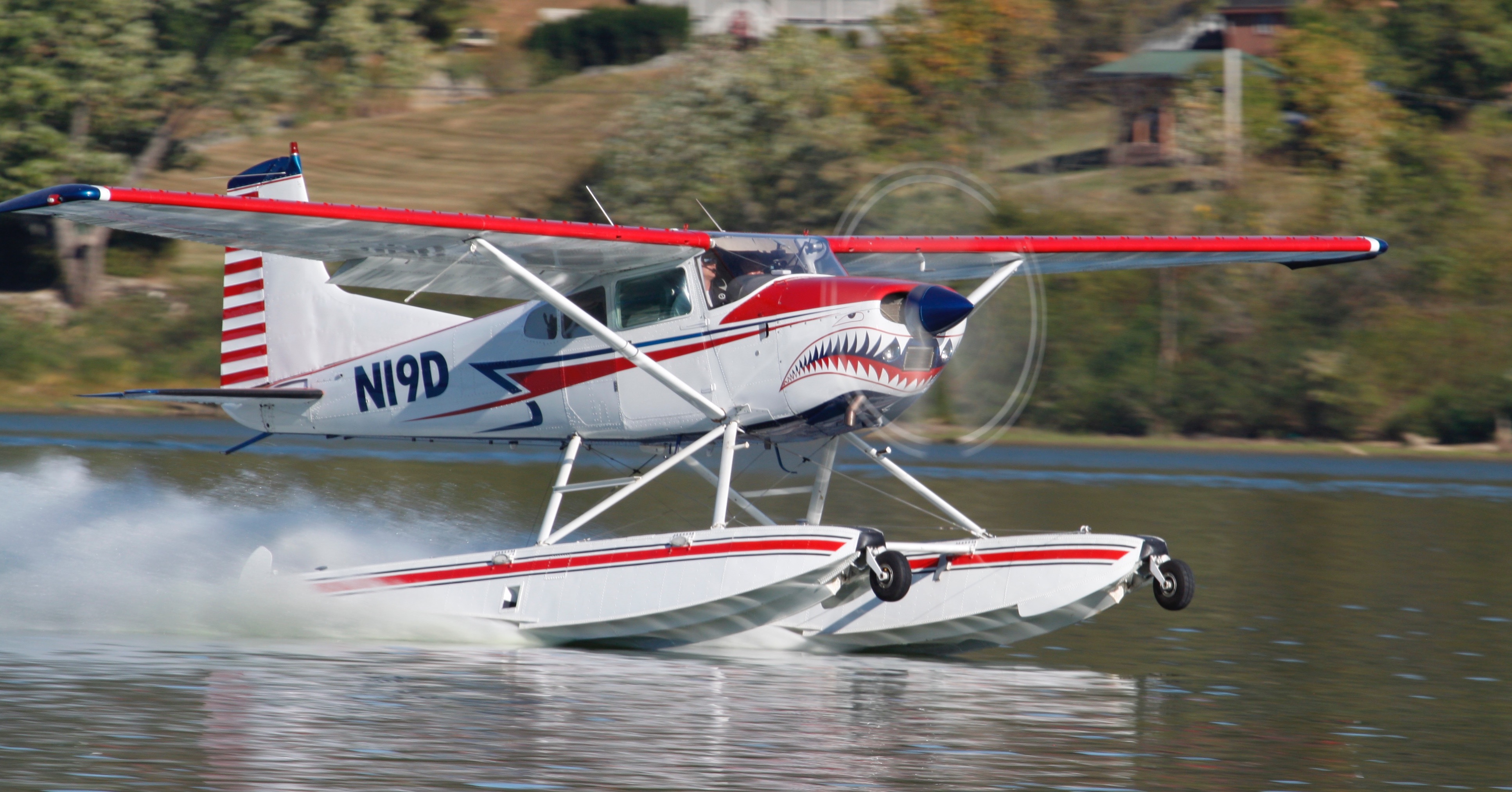 Shark Aviation N19D A185F Seaplane on the step