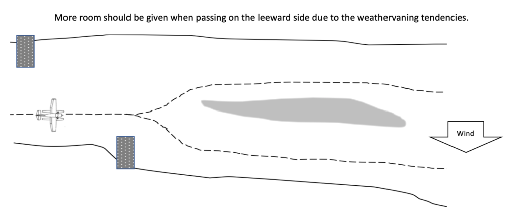 securing the seaplane - weathervane considerations