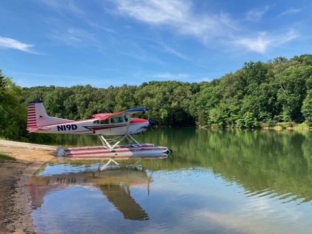 beaching during seaplane training on Kentucky Lake
